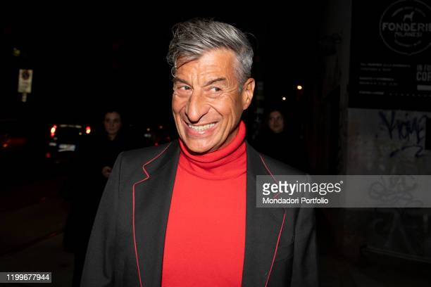 Italian artist Maurizio Cattelan guest at Gucci's private party at the end of the Milano Fashion Week Men's 2020 Milan January 14th 2020