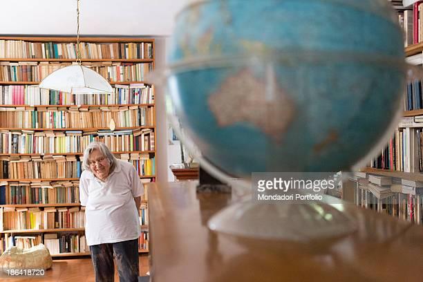 Italian astrophysicist Margherita Hack posing smiling at home where she keeps over twenty thousand books Trieste 21st June 2012