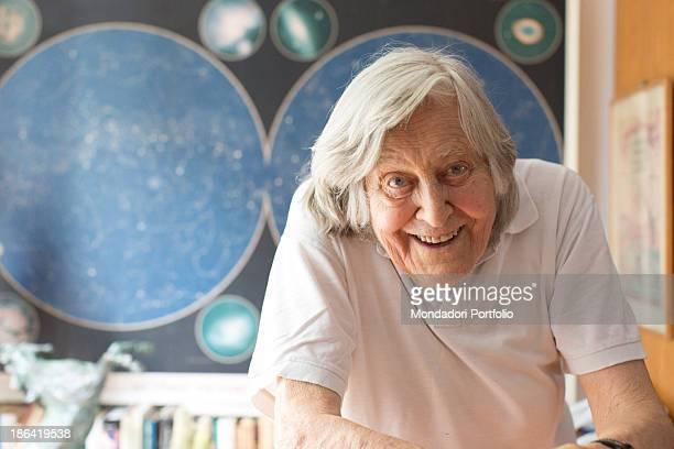Italian astrophysicist Margherita Hack smiling in front of her planetarium Trieste 21st June 2012