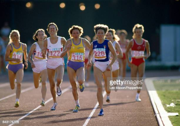Gabriella Dorio of Italy enroute to winning a gold medal in the women's 1500 metres event during the Summer Olympic Games in Los Angeles on 11th...