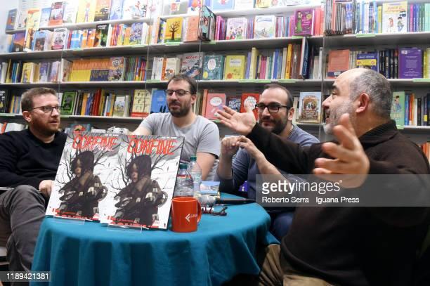 Italian author Alberto Sebastiani introduces the artist and graphic novelist Giuseppe Palumbo with coauthors screenwriters Mauro Uzzeo and Giovanni...