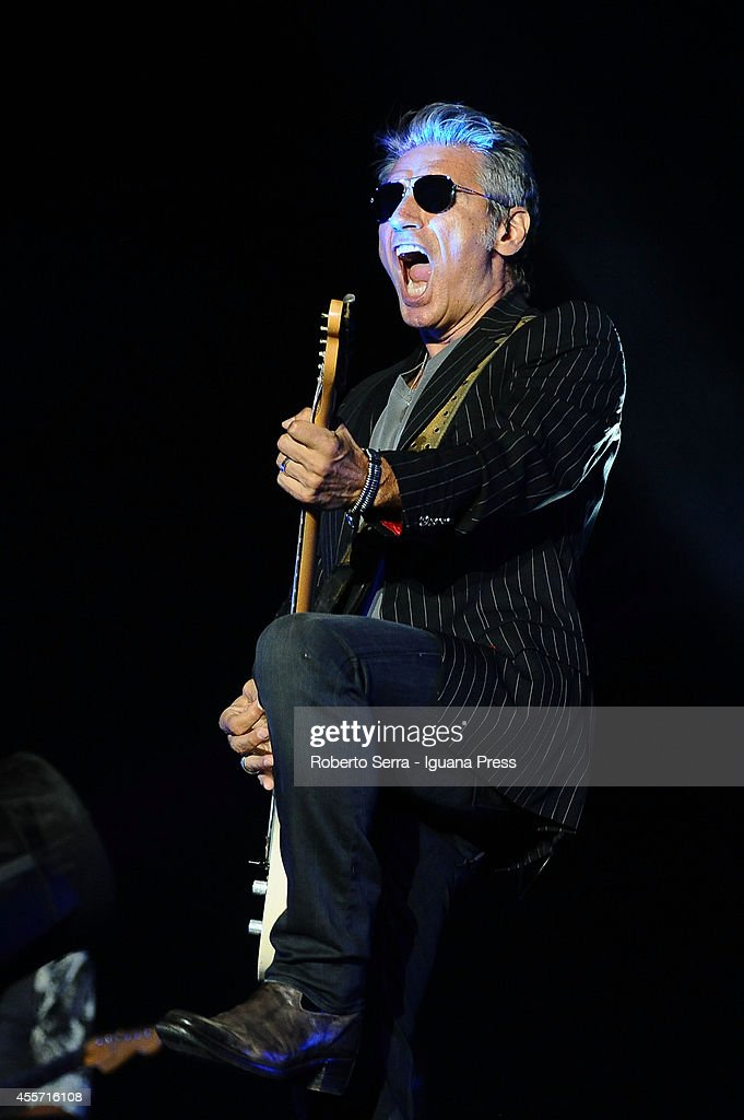 Italian author and musician Luciano Ligabue performs his concert 'Mondovisione Tour' at Dall'Ara Stadium on September 16, 2014 in Bologna, Italy.