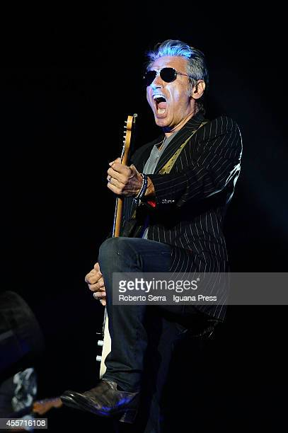 Italian author and musician Luciano Ligabue performs his concert Mondovisione Tour at Dall'Ara Stadium on September 16 2014 in Bologna Italy