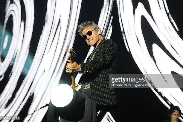 Italian author and musician Luciano Ligabue performs his concert 'Mondovisione Tour' at Dall'Ara Stadium on September 16 2014 in Bologna Italy