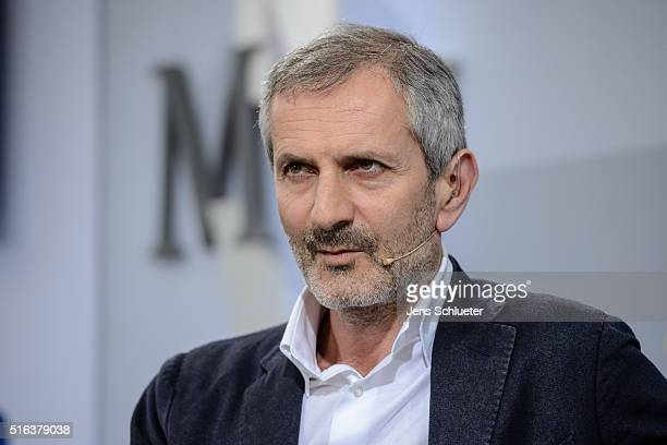 Italian author Gianrico Caroglio is seen during the Leipzig Book Fair 2016 on March 18, 2016 in Leipzig, Germany. From March 17 to March 20 more than...