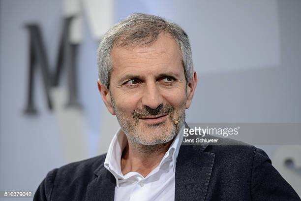 Italian author Gianrico Caroglio is seen during the Leipzig Book Fair 2016 on March 18 2016 in Leipzig Germany From March 17 to March 20 more than...