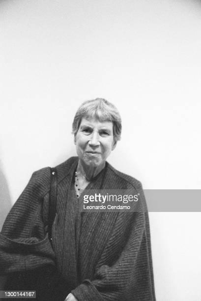 Italian author Natalia Ginzburg , Frankfurt, Germany, 21st October 1998.
