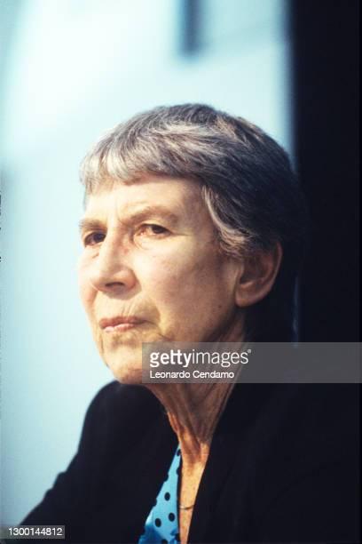 Italian author Natalia Ginzburg , Turin, Italy, circa 1990.