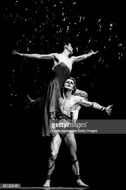 Italian ballerina Carla Fracci and Russian-born American dancer Mikhail Baryshnikov perform in the American Ballet Theatre's production of 'Medea' at...