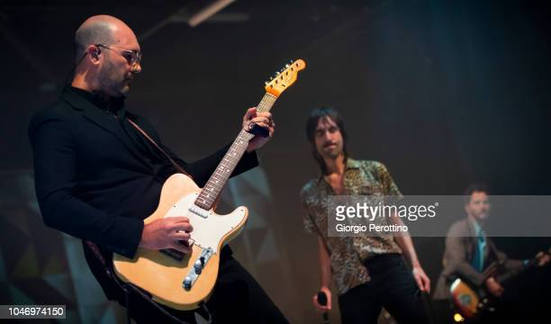 Italian band Baustelle perform live during the event called 'La fine dell'Amore la fine della violenza Amen @OGR' on September 29 2018 at Officine...