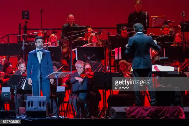 Italian Band Il Volo performs in a sold out concert in Turin Italy on May 5 2017
