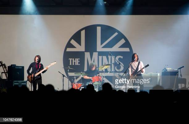 Italian band The Minis perfom live during the event called 'Baustelle La fine dell'amore la fine della violenza Amen @OGR' at Officine Grandi...
