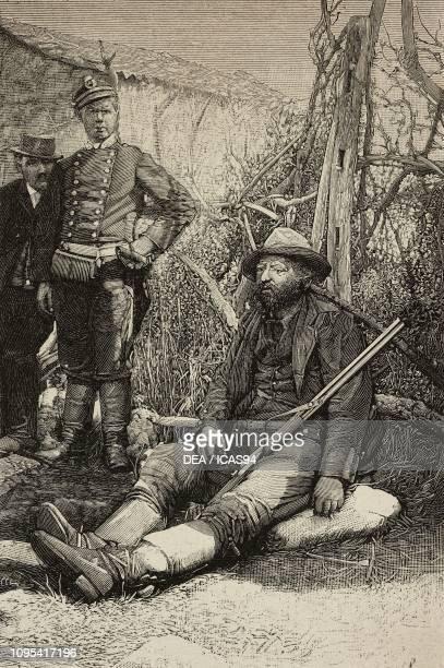 Italian bandit Placido Rinaldi sitting engraving from a photograph by Salvatore Lo Cascio from L'Illustrazione Italiana year 19 no 41 October 9 1892