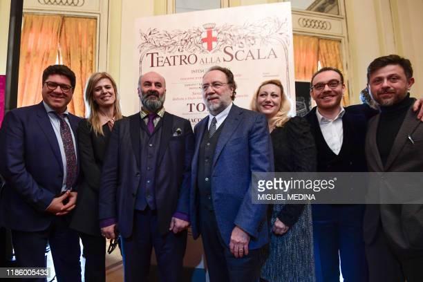 Italian baritone Luca Salsi, Italian scenographer Cristiana Picco, Italian theater director Davide Livermore, Italian conductor Ricardo Chailly,...
