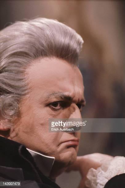 Italian baritone Tito Gobbi in his role as Scarpia in Puccini's opera 'Tosca', circa 1964.