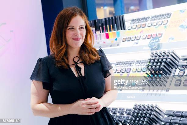 Italian Beauty Youtuber and Make up artist Clio Zammatteo aka Clio Makeup attends the KikoID store opening on November 22 2017 in Milan Italy