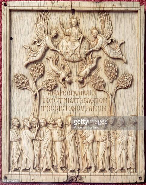 Italian Bone Carving of Ascension of Jesus Christ