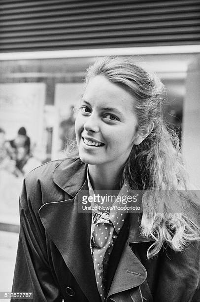 Italian born actress Greta Scacchi posed on Charlotte Street in London on 7th May 1986
