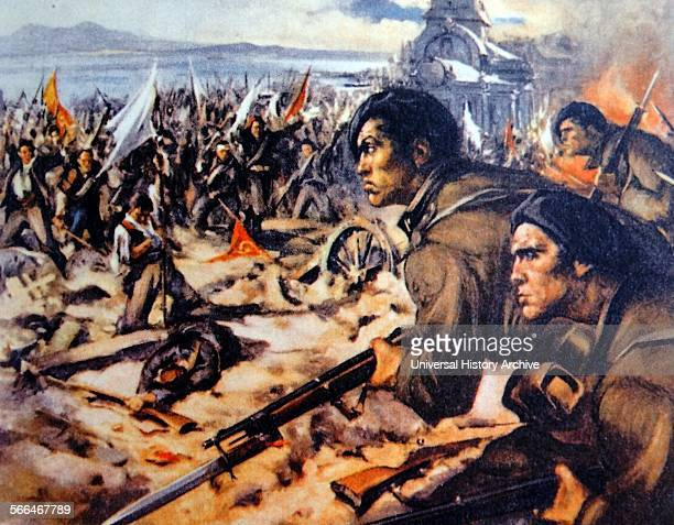Italian brigade in action against Spanish republican forces during the Spanish Civil War