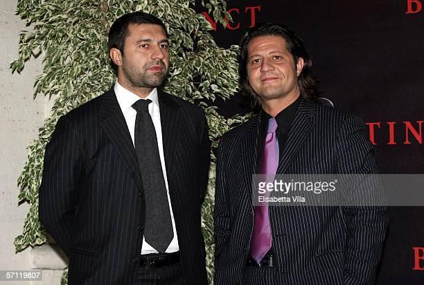 Italian brothers Giorgio and Guido Damiani arrive at the Italian Premiere of 'Basic Instinct II: Risk Addiction' at the Warner Village Moderno Cinema...