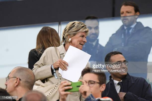 Italian business manager Evelina Christillin during the Serie A match between Juventus and Torino FC on May 3 2019 in Turin Italy
