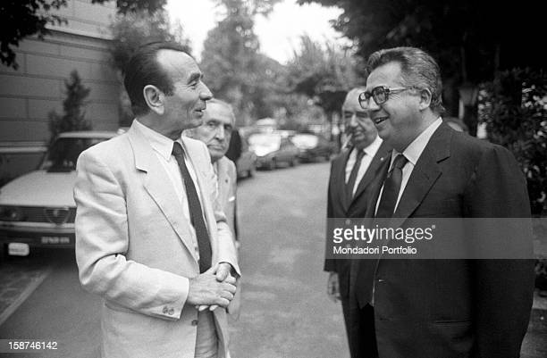 Italian businessman and publisher Giuseppe Ciarrapico attending the 7th National Friendship Day Fiuggi September 1983