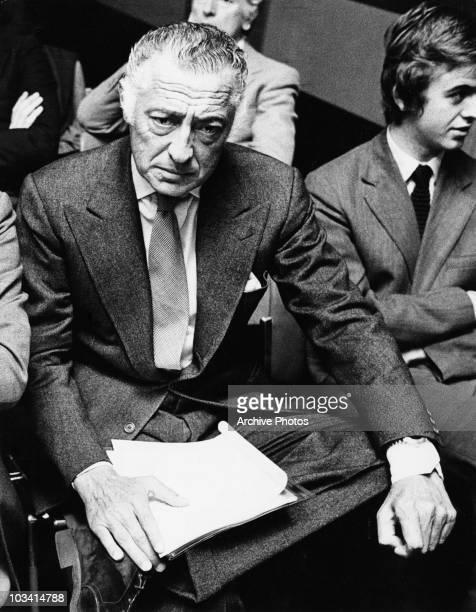Italian businessman Gianni Agnelli , President of Fiat, 1977.