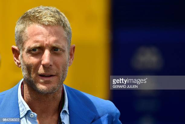 Italian businessman Lapo Elkann attends the Formula One Grand Prix de France at the Circuit Paul Ricard in Le Castellet, southern France, on June 24,...