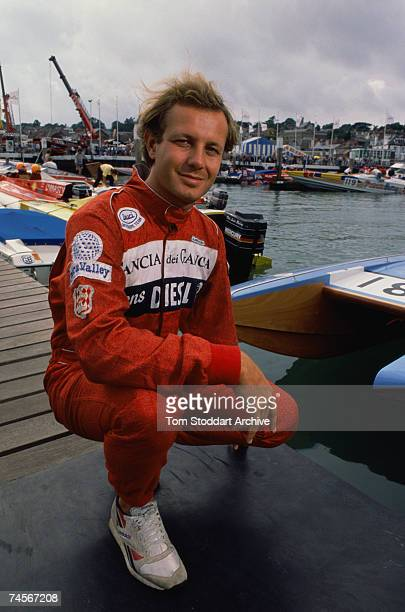 Italian businessman Stefano Casiraghi , second husband of Princess Caroline of Monaco, 1989. He died in 1990 in a powerboat racing accident while...