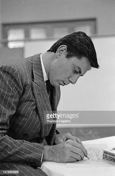 Italian car designer Sergio Farina of the Pininfarina car design and coachbuilding firm Italy 28th September 1956 The family surname was changed to...