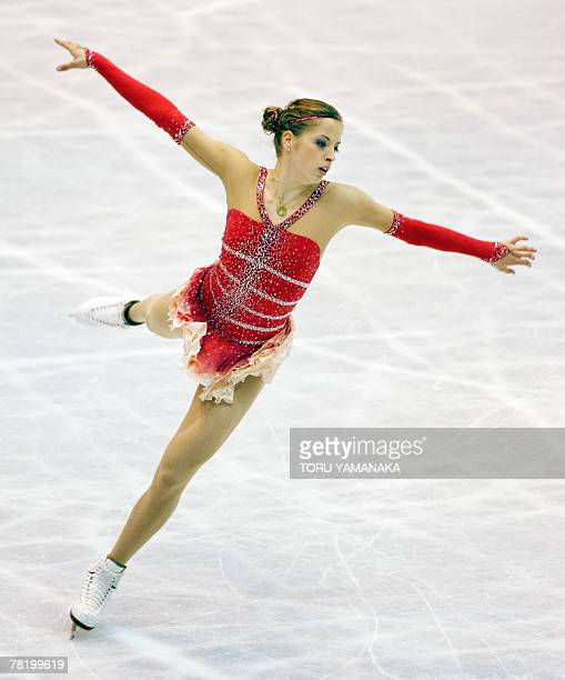 Italian Carolina Kostner performs her free skating at the NHK Trophy Figure Skating competition, the last leg of the ISU Grand Prix series, in...