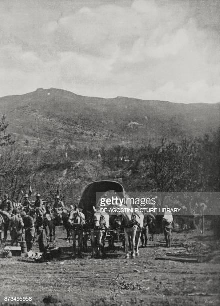 Italian cavalry Battle of Caporetto Italy World War I from L'Illustrazione Italiana Year XLIV No 45 November 11 1917