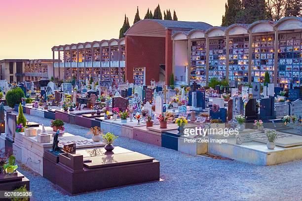 Italian cemetery in Pietrasanta (Province of Lucca, Tuscany, Italy)