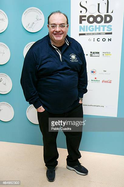 Italian Chef Andrea Tumbarello attends 'Soul Food Nights' presentation at Hesperia Hotel on March 2 2015 in Madrid Spain
