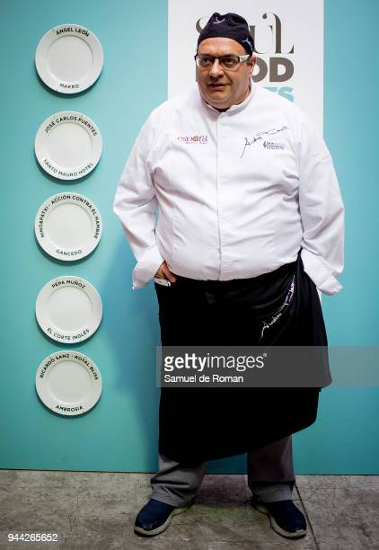 Italian chef Andrea Tumbarello attends the Soul Food Nights presentation on April 10 2018 in Madrid Spain