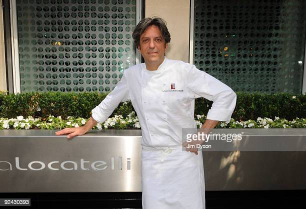 Italian Chef Giorgio Locatelli poses at his restaurant Locanda Locatelli on June 16 2009 in central London England