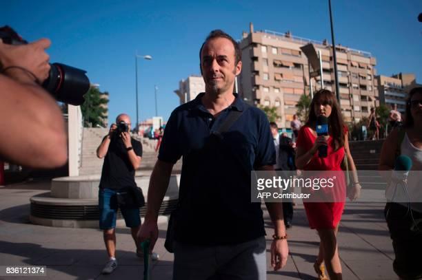 Italian citizen Francesco Arcuri arrives to the court of Granada on August 21 2017 Arcuri the expartner of Spanish woman Juana Rivas a woman in her...