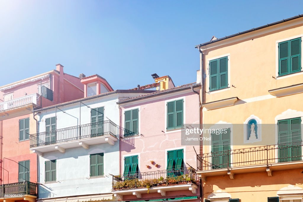 Italian coastal houses : Stock Photo