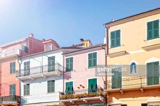 italian coastal houses - mediterranean culture stock pictures, royalty-free photos & images