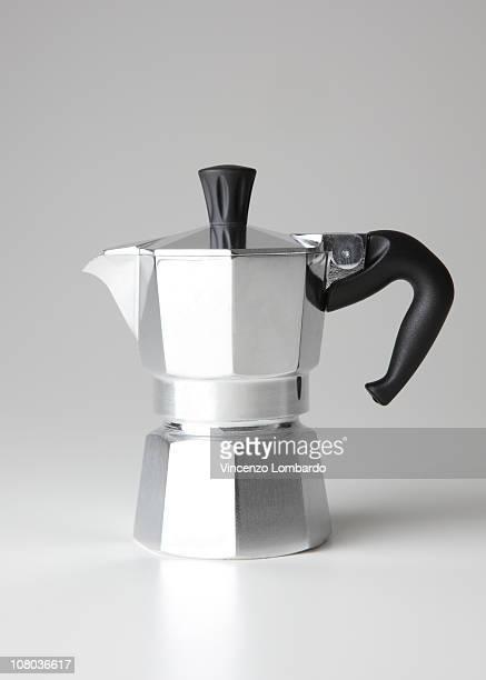 Italian Coffee maker, side view.