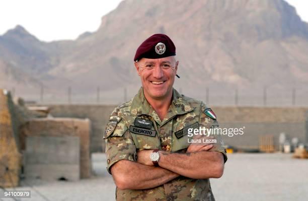 Italian Colonel Gabriele Toscani De Col Commander of 187st Parachute Regiment Folgore inside the FOB military base on September 15 2009 in Farah...