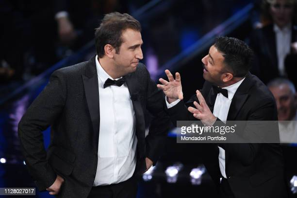 Italian comedian Pio e Amedeo during the second evening of the 69th Sanremo Music Festival. Sanremo , February 6th, 2019