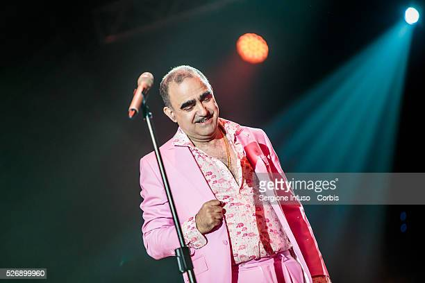 Italian Comedy rock band Elio e le Storie Tese, often abbreviated EelST, performs live at Mediolanum Forum of Assago in Milan, for the first concert...