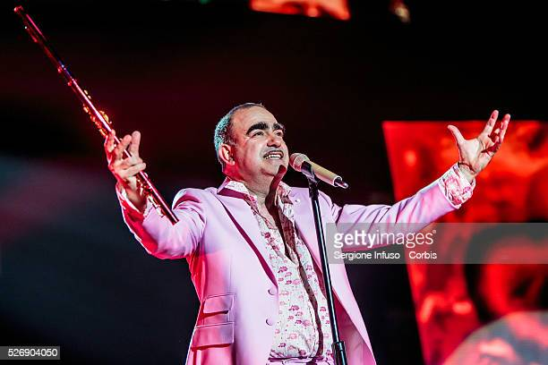 Italian Comedy rock band Elio e le Storie Tese often abbreviated EelST performs live at Mediolanum Forum of Assago in Milan for the first concert of...