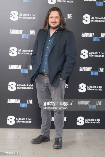 Italian comic actor Alessandro Betti at Saturday Night Live tv show photocall. Milano, April 6th 2018