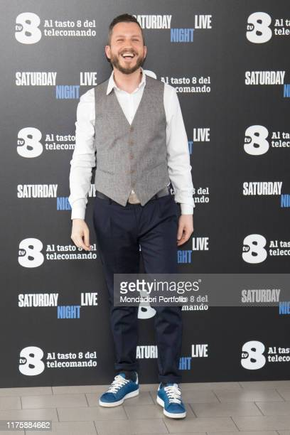 Italian comic actor Francesco Arienzo at Saturday Night Live tv show photocall. Milano, April 6th 2018
