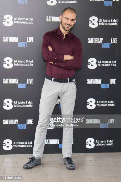 Italian comic actor Mirko Darar at Saturday Night Live tv show photocall. Milano, April 6th 2018