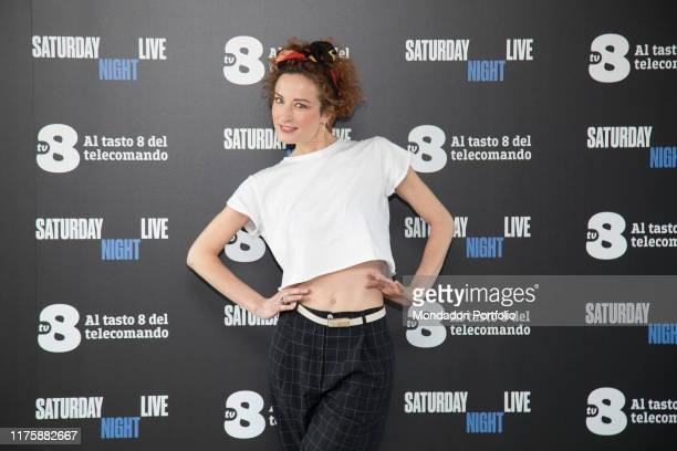 Italian comic actress Marta Zoboli at Saturday Night Live tv show photocall. Milano, April 6th 2018