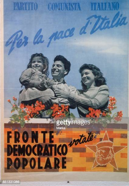 Italian Communist Party. For The Peace of Italy. Rated Popular Democratic Front. 1948.