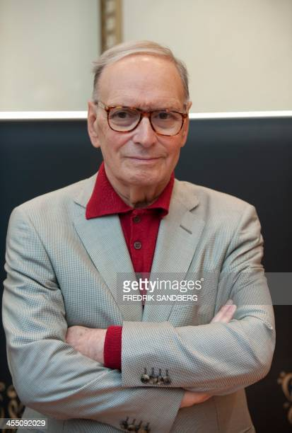Italian composer Ennio Morricone attends the Polar Music Prize news conference at Grand Hotel in Stockholm, on August 30, 2010. AFP Photo: Fredrik...
